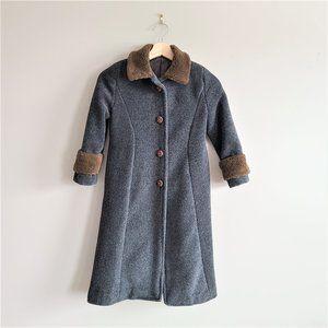 1940s-1950s girl's long winter coat.